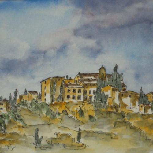 1995 - Stadtansicht in der Provence<br> 15 x 21 cm