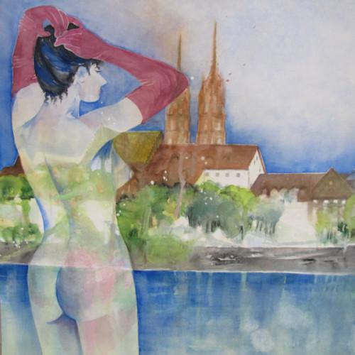 2018 - Madame 77 & Basler Münster<br> 35 x 35 cm