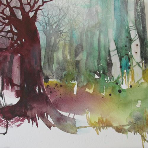 2020 - Mystic Trees<br> 30 x 30 cm