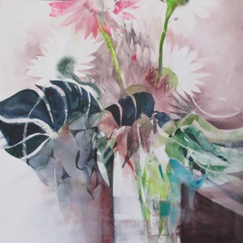 2019 - Pink Gerbera<br> 50 x 50 cm
