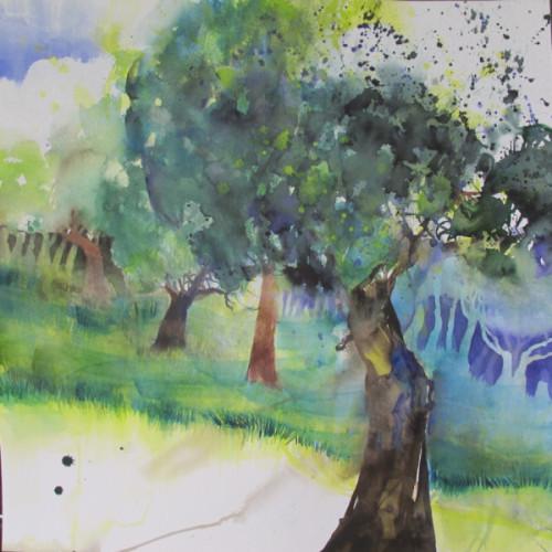 2020 - Cécile's Obstgarten 2<br> 56 x 56 cm