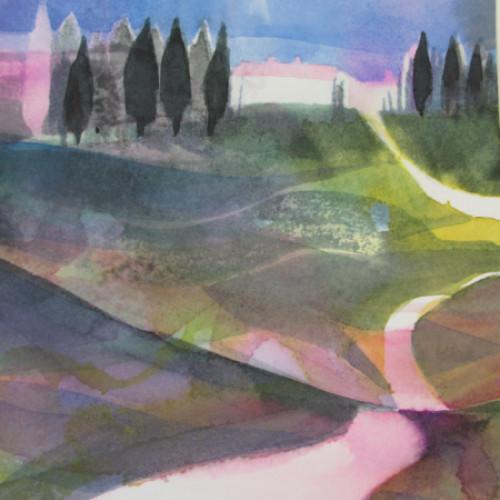 2020 - Zypressen Toscana<br> 15.5 x 21.5 cm