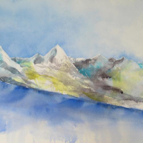 2020 - Matterhorn - Gornergletscher 1<br> 48 x 36 cm