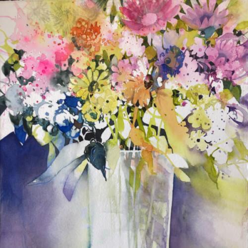 2020 - Chrysantheme & Gerbera<br> 35 x 35 cm