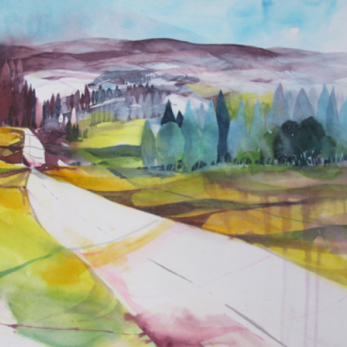 2021 - Toscana, Herbstlandschaft<br> 57 x 37 cm