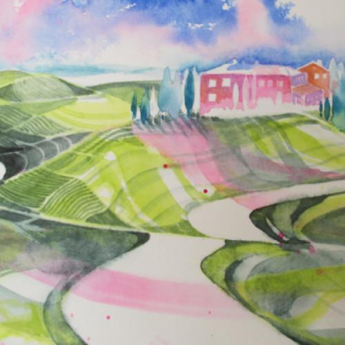 2021 - Toscana rosa 3<br> 28 x 18.5 cm