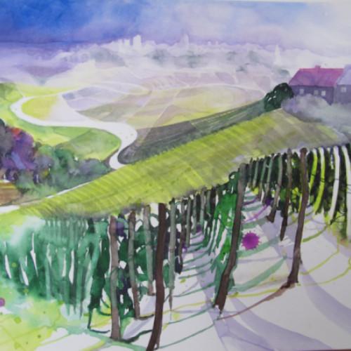 2020 - Piemont, Weinreben nähe Neive<br> 27.5 x 37.5 cm